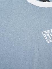 Lauren Ralph Lauren - Intarsia-Knit Cotton-Modal Sweater - strikkede toppe - dust blue/white - 2