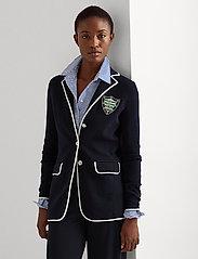 Lauren Ralph Lauren - Bullion Combed Cotton Blazer - vestes casual - french navy/ whit - 0