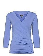 Wrap-Style Jersey Top - CABANA BLUE