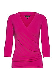 Wrap-Style Jersey Top - NOUVEAU BRIGHT PI