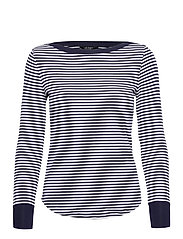 Striped Snap-Trim Drop-Needle Top - FRENCH NAVY/WHITE