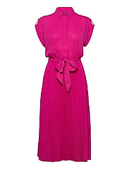 Pleated Georgette Shirtdress - NOUVEAU BRIGHT PI