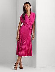 Lauren Ralph Lauren - Pleated Georgette Shirtdress - sommerkjoler - nouveau bright pi - 0