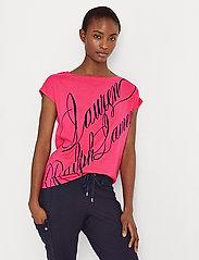 Lauren Ralph Lauren - Logo Boatneck Tee - t-shirts - nouveau bright pi - 0