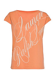 Logo Boatneck Tee - SHELL CORAL