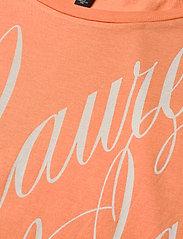 Lauren Ralph Lauren - Logo Boatneck Tee - t-shirts - shell coral - 2