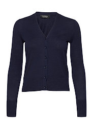 Cotton-Modal Cardigan Sweater - FRENCH NAVY