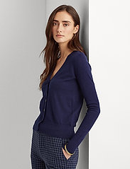 Lauren Ralph Lauren - Cotton-Modal Cardigan Sweater - gilets - french navy - 0