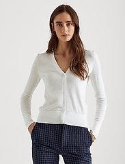 Lauren Ralph Lauren - Cotton-Modal Cardigan Sweater - cardigans - white - 0