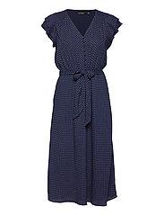 Batik Georgette Dress - FRENCH NAVY/PALE