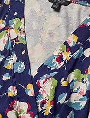 Lauren Ralph Lauren - Wrap-Style Jersey Top - langærmede bluser - royal navy multi - 2