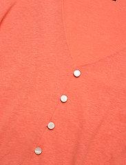 Lauren Ralph Lauren - CLN LINEN BLND JRSY-ELB-KNT - kortærmede bluser - coral quartz - 3
