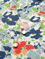 Lauren Ralph Lauren - Floral Linen Jersey Peplum Top - kortærmede bluser - cream multi - 2
