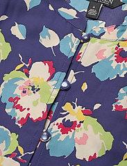 Lauren Ralph Lauren - Floral Elbow-Sleeve Georgette Dress - sommerkjoler - blue multi - 2