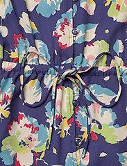 Lauren Ralph Lauren - Floral Elbow-Sleeve Georgette Dress - sommerkjoler - blue multi - 3
