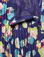 Lauren Ralph Lauren - Floral Pleated Georgette Midi Skirt - træningsnederdele - blue multi - 3