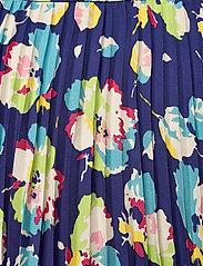 Lauren Ralph Lauren - Floral Pleated Georgette Midi Skirt - træningsnederdele - blue multi - 4