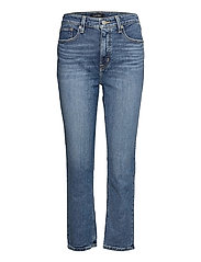 High-Rise Straight Ankle Jean - LEGACY WASH