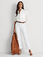 Lauren Ralph Lauren - High-Rise Straight Ankle Jean - straight jeans - white wsh - 0