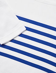 Lauren Ralph Lauren - Striped Cotton Boatneck Top - langærmede toppe - white/ sapphire s - 2