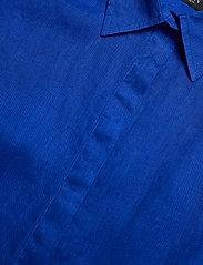 Lauren Ralph Lauren - Tie-Front Linen Shirt - kortærmede skjorter - sapphire star - 2