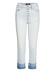 High-Rise Straight Ankle Jean - PARADISE BLUE WAS