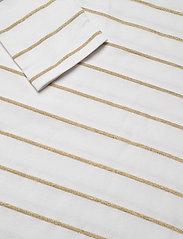 Lauren Ralph Lauren - Metallic Striped Cotton Boatneck Top - hauts à manches longues - white/gold metal - 4
