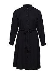 Plus Size Georgette Shirtdress - POLO BLACK