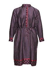 Plus Size Print Twill Shirtdress - MULTI