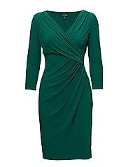 Ruched Jersey Dress - ITALIAN EMERLD
