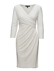 Ruched Jersey Dress - LAUREN WHITE