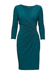 Ruched Jersey Dress - SEA STONE
