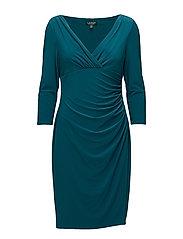Surplice Jersey Dress - MERIDIAN JADE