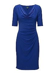 Cowlneck Jersey Dress - ANCHOR BLUE
