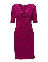 Cowlneck Jersey Dress - COASTAL FUCHSIA