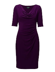 Cowlneck Jersey Dress - HADDON VIOLET