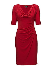 Cowlneck Jersey Dress - SIGNATURE RED