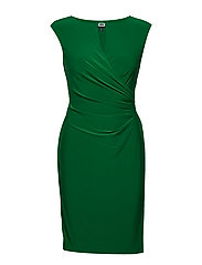Keyhole Stretch Jersey Dress - CAMBRIDGE GREEN