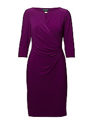 Ruched Jersey Dress - EXOTIC FUSCHIA
