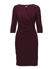 Ruched Jersey Dress - NEW POMEGRANATE