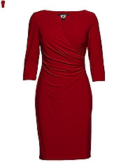 Ruched Jersey Dress - PARLOR RED