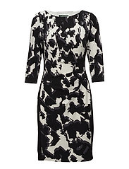 Floral-Print Jersey Dress - BLACK/SLATE/COLON