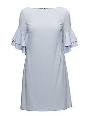 Ruffle-Sleeve Shift Dress - SOFT PERIWINKLE