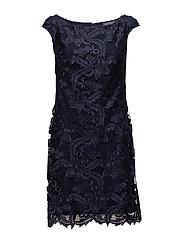Scalloped-Lace Dress - LIGHTHOUSE NAVY