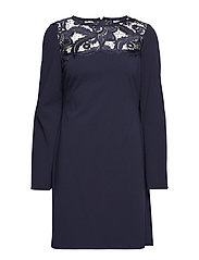 Lace-Yoke Jersey Dress - LH NAVY/LH NAVY