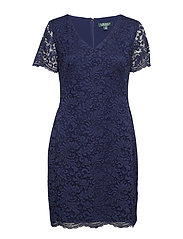 Scalloped Lace Dress - DUTCH BLUE