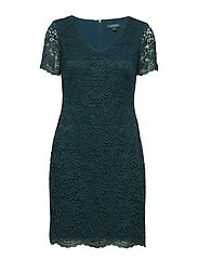 Scalloped Lace Dress - SPRUCE