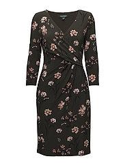Surplice Jersey Dress - ADMIRAL GREEN/BLU