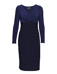 Jersey Surplice Dress - LH NAVY/DUTCH BLU