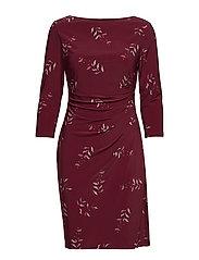 Print Jersey Dress - NEW POM/VIBRANT G
